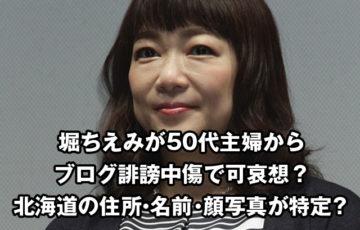 堀ちえみが50代主婦からブログ誹謗中傷で可哀想?北海道の住所や名前や顔写真が特定?