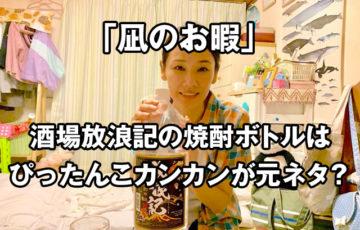 凪のお暇の吉田羊の酒場放浪記の焼酎ボトルはぴったんこカンカンが元ネタ?